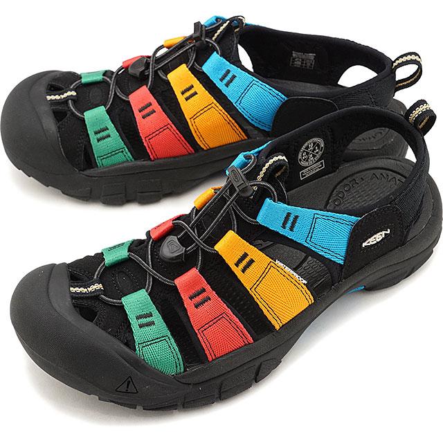 【5/1限定!カード&エントリー19倍】KEEN キーン サンダル ニューポート エイチツー M NEWPORT H2 [1022259 SS20] メンズ アウトドア ウォーターシューズ 靴 Multi/Black マルチカラー