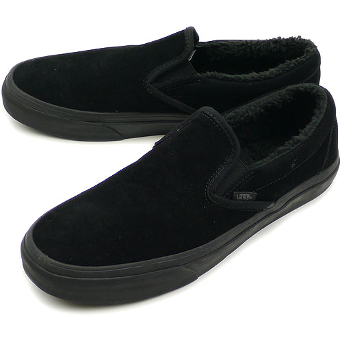 classic vans slip on black