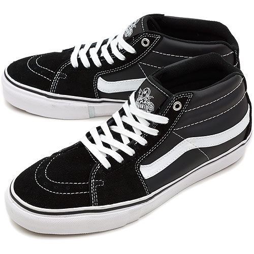 8ee0f4a7ad □□VANS vans sneakers CORE SK8 MID VERT PRO core skating mid VERT pro GROSSO  BLACK WHITE (VN-0JLD5SJ SS12)