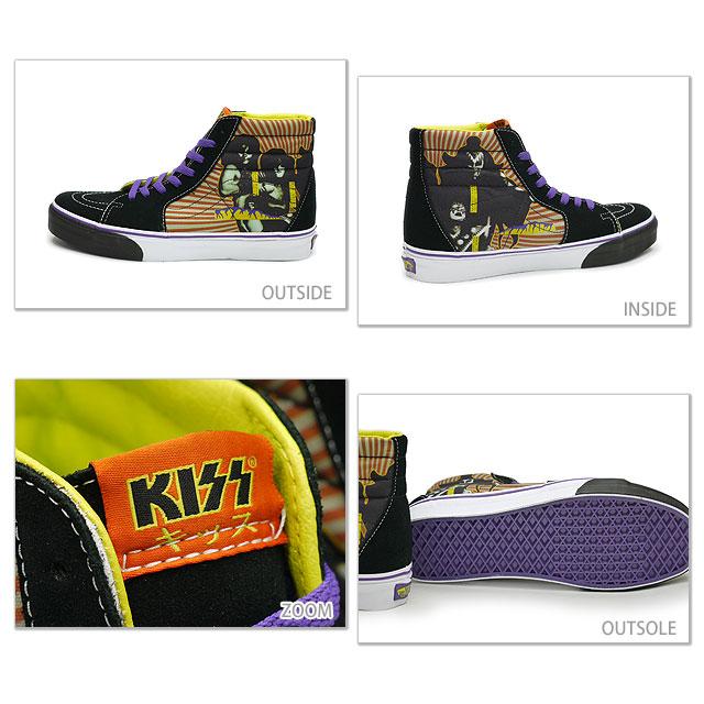 hot sale online 63e7e 4e5ff VANS vans sneakers CLASSICS Classic Sk8-Hi ( KISS HOTTER THAN HELL ) スケートハイ  ( KISS HOTTER THAN HELL ) ( SS10 VN-0D5C0US ) black/purple fs3gm