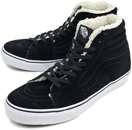 cbb8307872 VANS vans sneakers SURF SK8-HI FLEECE SF surf skating high fleece SF BLACK  (VN-0KXH1CK FW10)