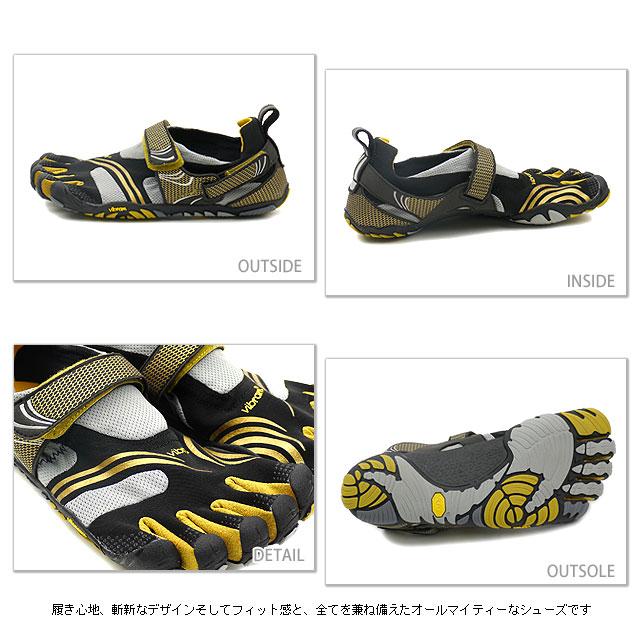 Vibram FiveFingers Vibram five fingers mens KMD SPORT Black/Gold Vibram five fingers five finger shoes barefoot ( M3681 )