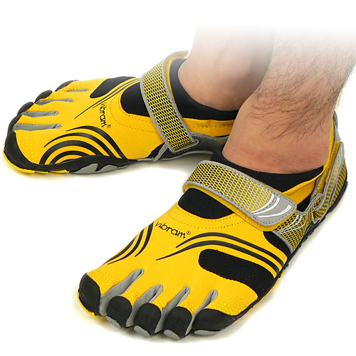 Vibram FiveFingers Vibram five fingers mens KMD SPORT Yellow/Black Vibram five fingers five finger shoes barefoot ( M3648 ) fs3gm