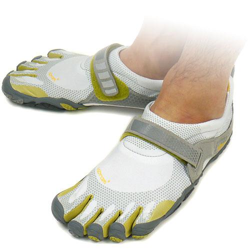 Vibram FiveFingers口水巾羊羔五手指人BIKILA Light Grey/Palm/Dark Grey口水巾羊羔五手指5部手指鞋提高基本工资脚(M345)