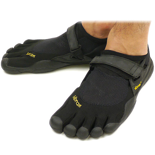 Vibram FiveFingers ビブラムファイブフィンガーズ メンズ KSO Black/Black ビブラム ファイブフィンガーズ 5本指シューズ ベアフット靴 [M148]