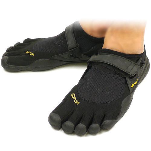 Vibram FiveFingers ビブラムファイブフィンガーズ メンズ&レディース KSO Black/Black ビブラム ファイブフィンガーズ 5本指シューズ ベアフット靴 [W148]