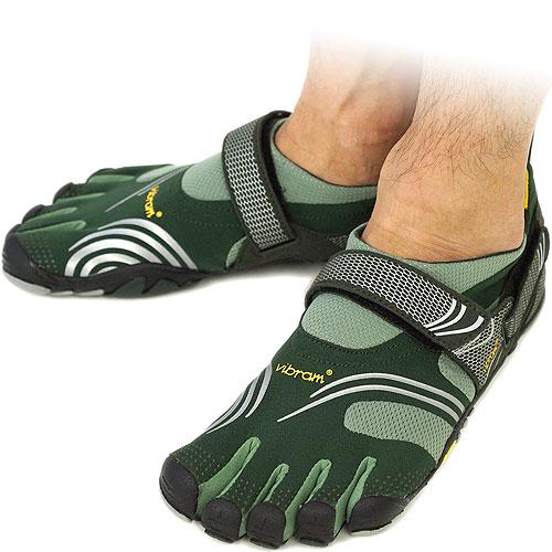 Vibram FiveFingers Vibram five fingers mens KMD SPORT Green/Silver Vibram five fingers five finger shoes barefoot ( M3625 ) fs3gm