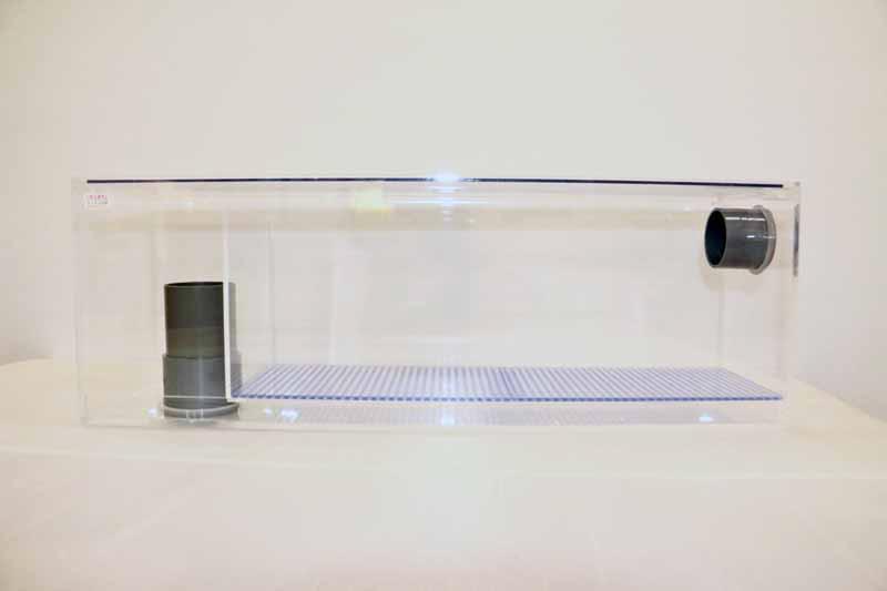 58x15x20(H) オーバーフロー用ウールボックス(上部アクリル製フタ付)
