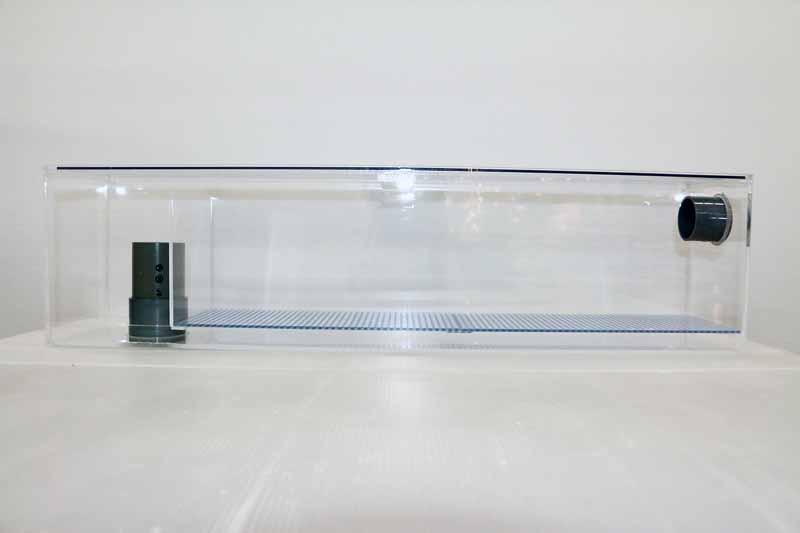 78x15x20(H) オーバーフロー用ウールボックス(上部アクリル製フタ付)