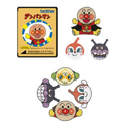 Anpanman (embroidery cards) Brother sewing machine options  02P13Dec14/05P13Dec14/10P13Dec14