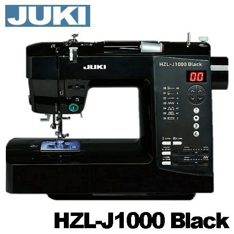 JUKI家庭用ミシンアンティークブラックミシンHZL-J1000B自動糸調子ジューキ J1000BLACK 純正ボビン10個付き ミシン本体