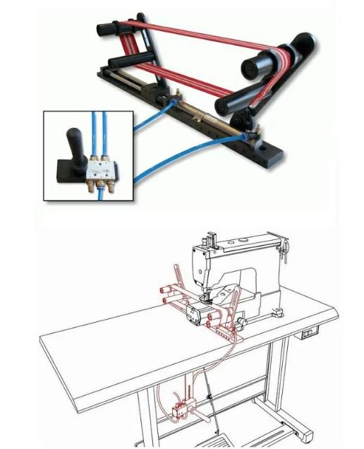 【新品】SSM-K990 各種縫製品のゴム張り装置 エアーシリンダータイプ