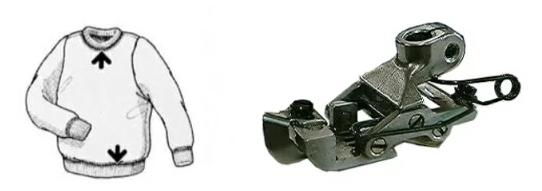 【新品】SSM-WFV-348偏平縫いミシン用トラクター押さえカバーリング工程 山越えのエキスパート