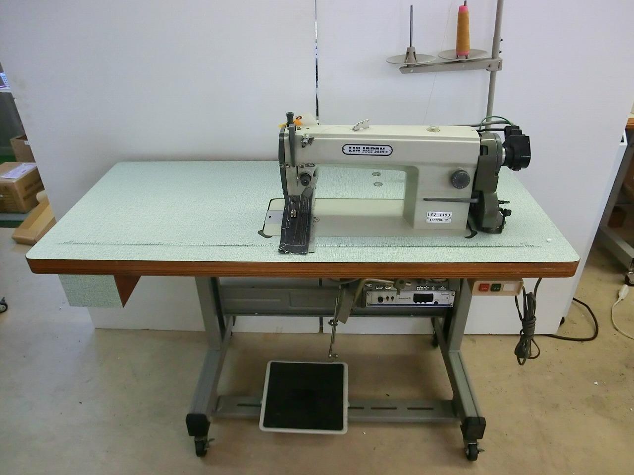 【中古】 三菱ミシン 1本針自動糸きり装置付き。 モデルNO-LS2-1180型 100v電源