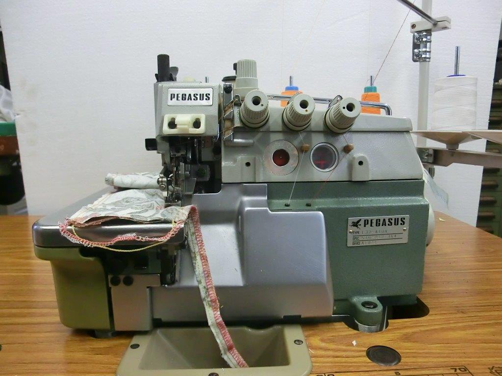 【中古】ペガサス 2本針5本糸インターロックミシン E32-410A型