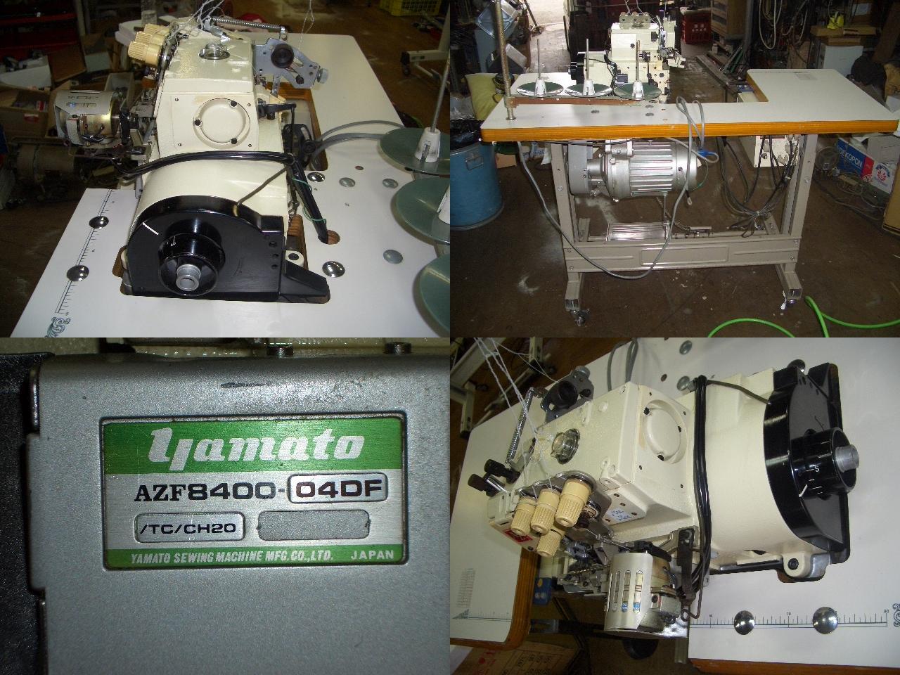 【中古】 ヤマト YAMATO AZF-8400-04DF/TC/CH20 1本針3本糸上下作動すそ引きミシン 段はずれ防止装置つき 200V