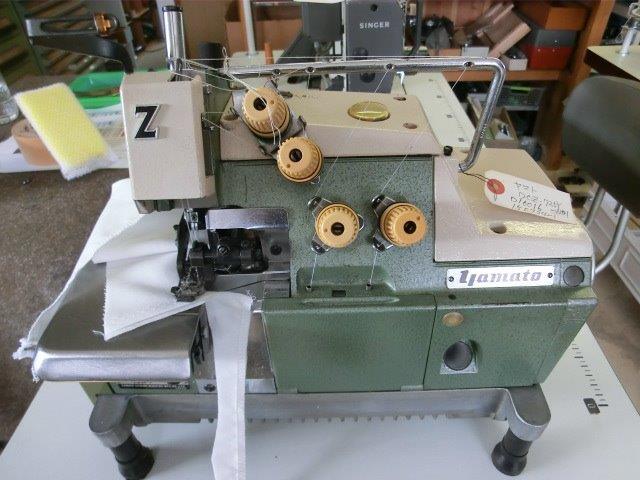【中古】 YAMATO 2本針 4本糸 オーバーロックミシン モデル DCZ-725Y-ND1