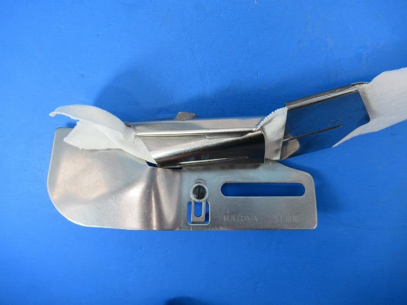 中古 日本製 マツヤ製造品テープ幅60mm仕上がり幅20mm 上置き型4つ巻きバインダーです 直輸入品激安 部品NOーマツヤ 主に 各メーカー扁平縫いミシンに取り付けてお使いください D13-4 格安 上下仕上がり幅は多少調節可能です