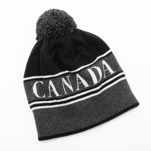 カナダグース CANADA GOOSE CANADA GOOSE POM ウール ポンポン ニット 帽子 ブラック基調 [メンズ][レディース] 5114M 61 BLACK