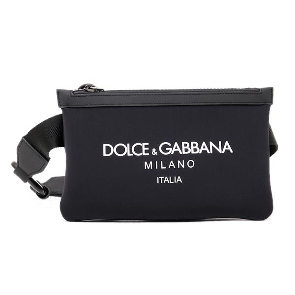 ドルチェ&ガッバーナ ドルガバ DOLCE&GABBANA ネオプレン ボディバッグ ウエストポーチ ブラック [メンズ] BM1730 AA350 HNII7