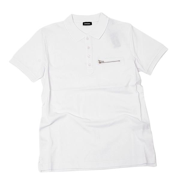 ディーゼル DIESEL T-KAL-3 POLO コットン 半袖 ポロシャツ ホワイト [メンズ] 00S6CS 0PAXD 100