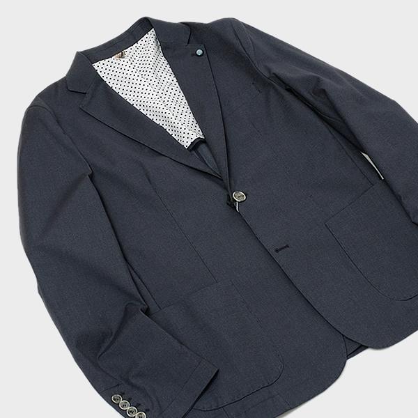 【サイズ50】クリスティアーノビサーリ Cristiano Bizzarri コットン 2釦 サマー ジャケット グレー系 [メンズ] CR006 GRAY【JK】