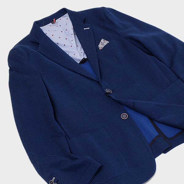 【サイズ50】クリスティアーノビサーリ Cristiano Bizzarri コットン 2釦 サマー ジャケット ブルー [メンズ] CR007 BLUE【JK】