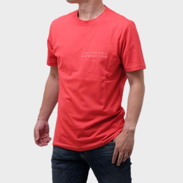 ブルネロクチネリ BRUNELLO CUCINELLI コットン 半袖 Tシャツ レッド [メンズ] M0T617473 CB327