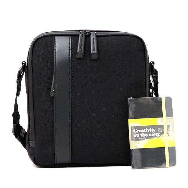 ブリックス BRIC'S モレスキン MOLESKIN ショルダーバッグ 10インチタブレット対応 ブラック [メンズ] BKN05713 001