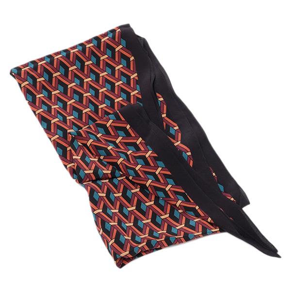 グッチ GUCCI シルク スカーフ 幾何学模様 マルチカラー ブラック基調 [レディース] 397975 4G005 6169