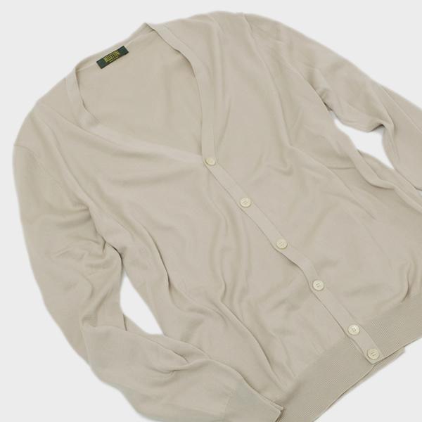 【サイズ54(3L)】イタリア製 BT コットン カーディガン ニット セーター ベージュ系 [メンズ] 58101 18193 015