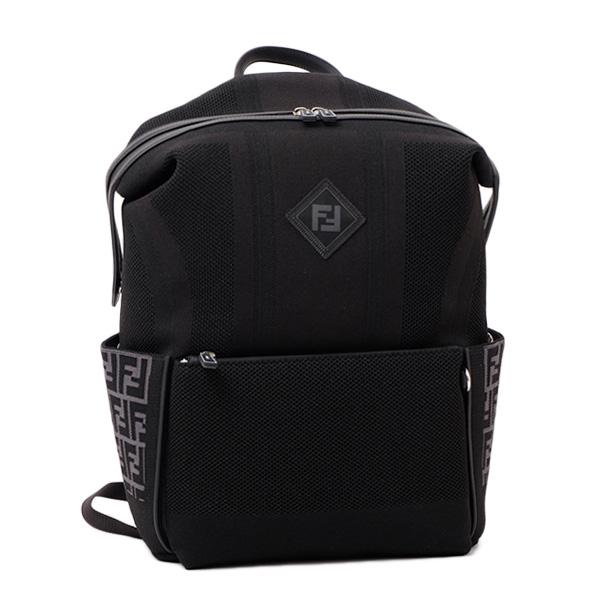 フェンディ FENDI キャンバス ブラックテクニカルニット バックパック リュックサック ブラック [メンズ] 7VZ035 A46Y F142I【〇F4】
