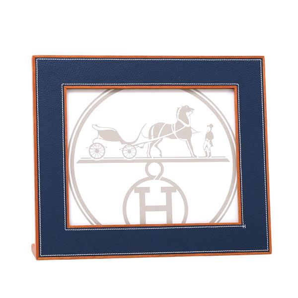 エルメス HERMES プレイアード PLEIADE フォトフレーム 写真立て ブルー H311298M 02【お買い物マラソン★ラストスパート!ポイント 2 倍アイテム】