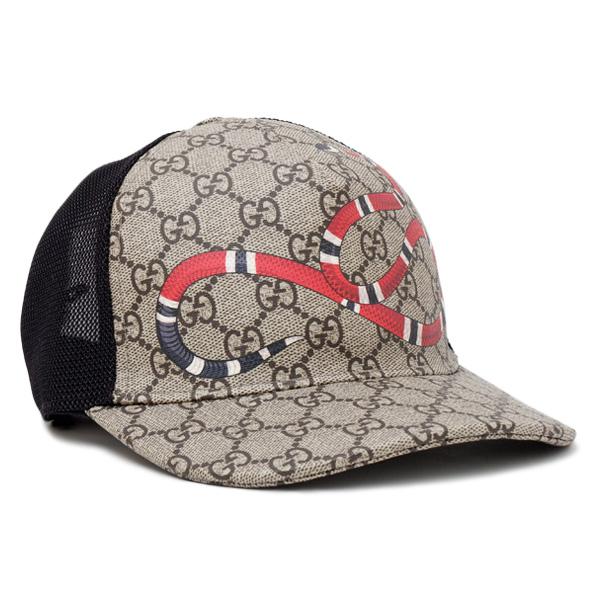 グッチ GUCCI GGスプリーム ベースボール キャップ 帽子 スネーク [メンズ] 426887 4HB10 2160