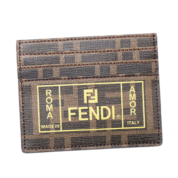 フェンディ FENDI FFモノグラム カードケース ブラウン [メンズ] 7M0164 A7SB F17HW