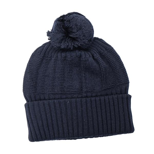 あす楽 大人気 ダンヒル DUNHILL 帽子 送料無料 お値段見直しました ネイビー ボンボン ブランド品 DUZNQ01931600R ニット メンズ