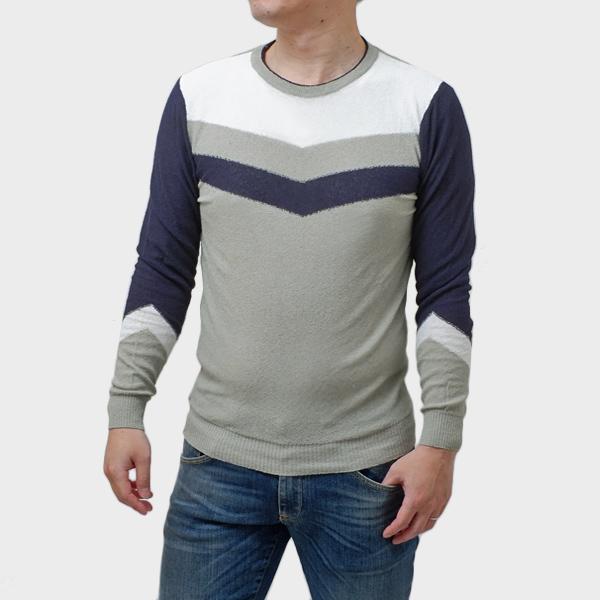 ダニエレフィエゾーリ DANIELE FIESOLI 長袖 クルーネック サマーニット セーター [メンズ] DF7060 0010
