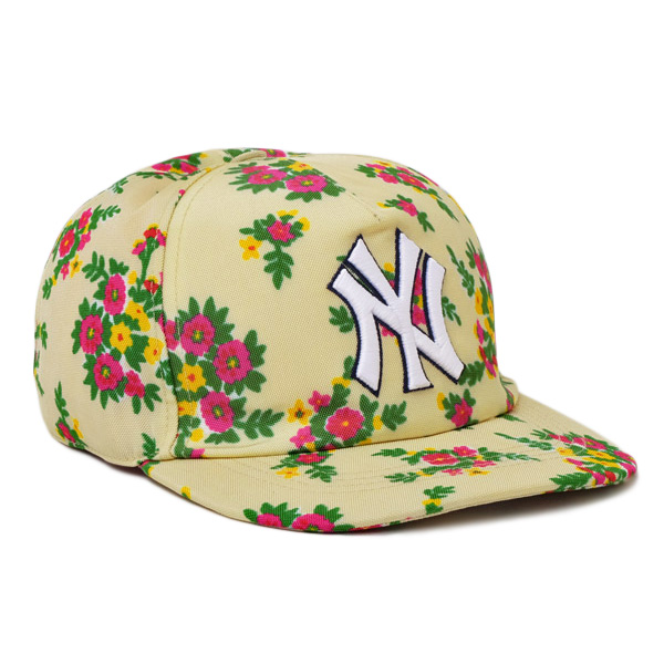 グッチ GUCCI NYヤンキース コラボ ベースボール キャップ 帽子 [レディース] 538562 3HE37 9067