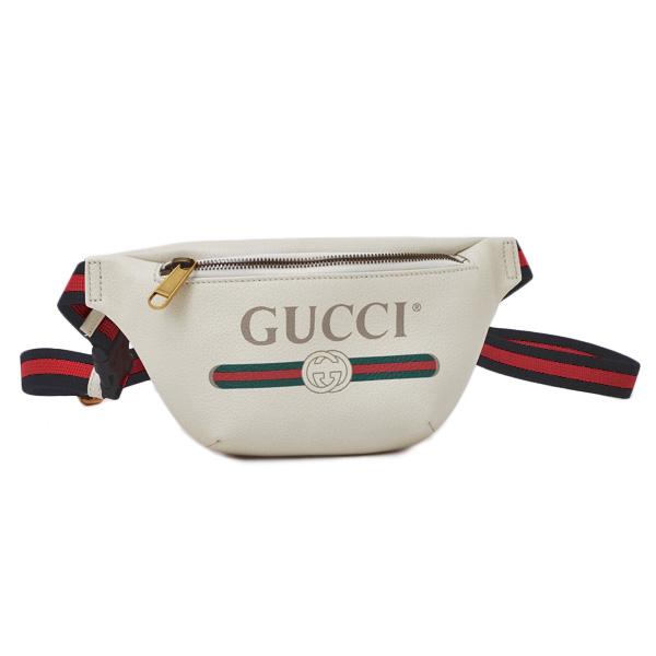 Gucci GUCCI print leather Small belt bag bum,bag waist porch white system  [Lady\u0027s] [men] 527792 0GCCT 8822