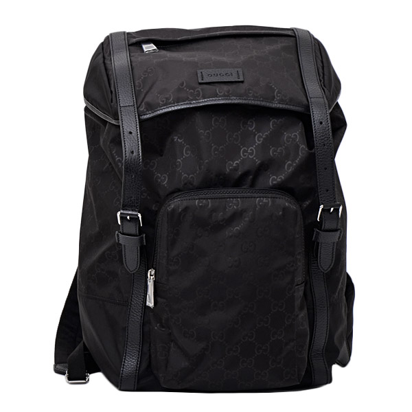 Gucci GUCCI outlet Gucci sima nylon leather rucksack backpack bag black  [men] 510336 K28CN 1000