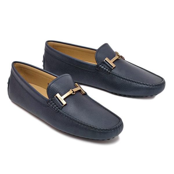 【サイズ8(27cm)】トッズ TOD'S レザー ビットローファー ドライビング シューズ 靴 ネイビー [メンズ] XXM0GW0AU51TEN U820 BLUE