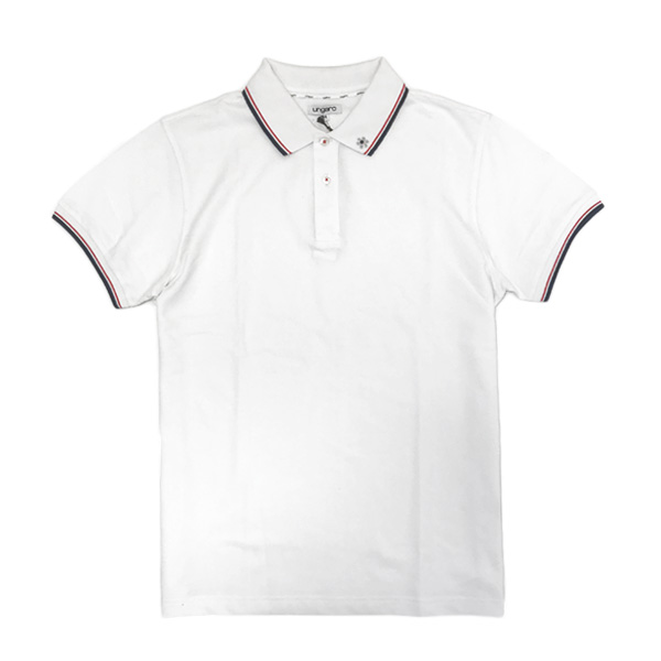 【サイズM】ウンガロ ungaro コットン 半袖 ポロシャツ ホワイト [メンズ] KMPOL16MW103UM 10