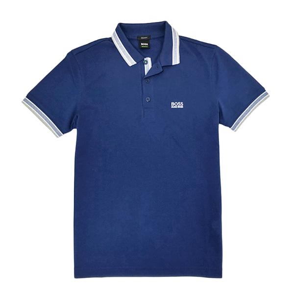ヒューゴボス HUGO BOSS Paddy REGULAR FIT コットン 半袖 ポロシャツ ブルー [メンズ] 50302557 430【〇H6】