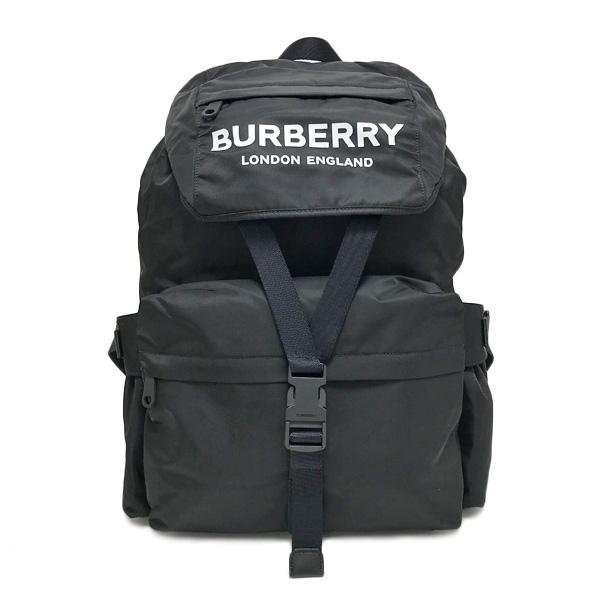 バーバリー BURBERRY ナイロン バックパック リュックサック バッグ ブラック [メンズ] 8010608 BLACK【〇D14】