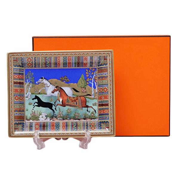エルメス HERMES シュヴァルドリアン 小物入れ 置物 灰皿 アッシュトレー 陶器 009890