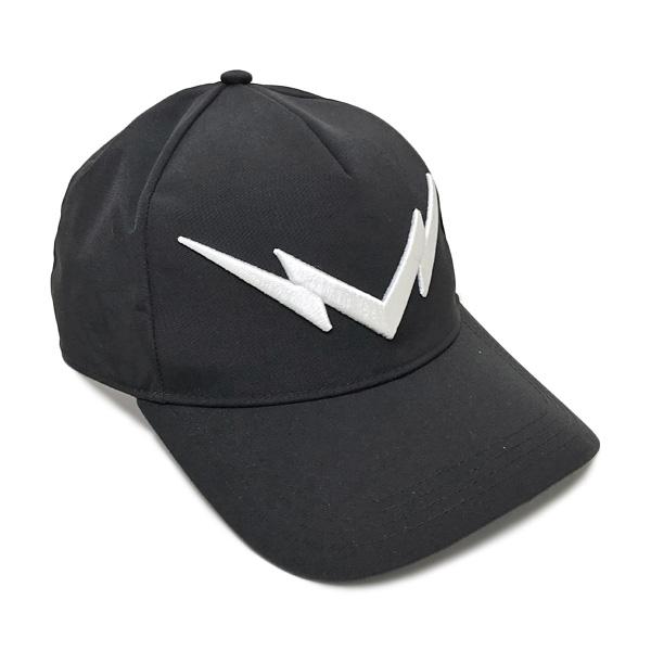 ニールバレット Neil Barrett サンダーボルト ベースボール キャップ 帽子 ブラック [メンズ] PBCP181E F9503 524