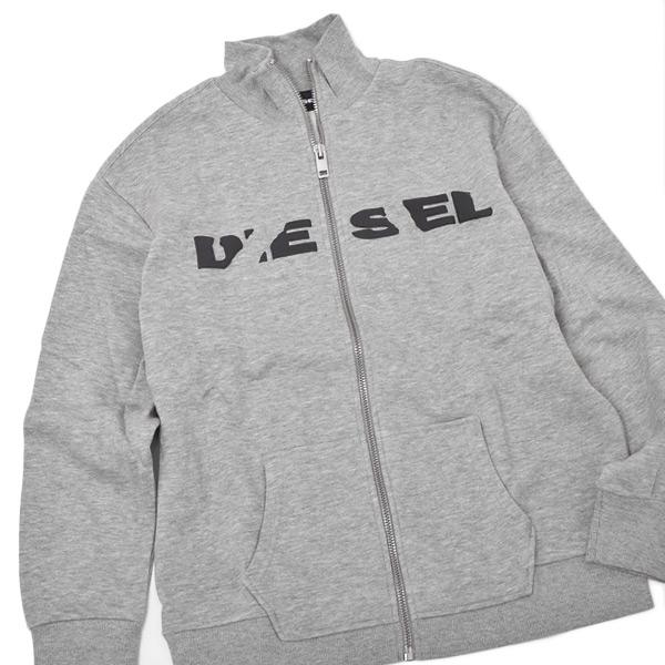 ディーゼル DIESEL S-BRAVE-BRO スウェット トラックジャケット グレー [メンズ] 00STTJ RWAPO 912【〇B1】