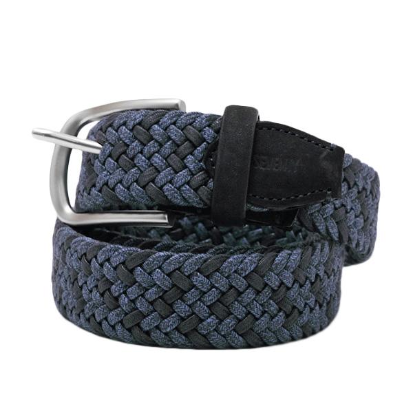 【サイズ52】セブンティ SEVENTY メッシュ 編み込み ベルト ブルー系 [メンズ] CI021411011 2750