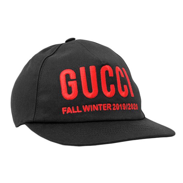 グッチ GUCCI エンブロイダリー ベースボール キャップ 帽子 ブラック [メンズ] 596211 3HI49 1074