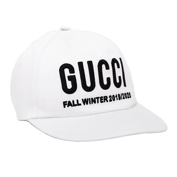 グッチ GUCCI エンブロイダリー ベースボール キャップ 帽子 ホワイト [メンズ] 596211 3HI49 9060